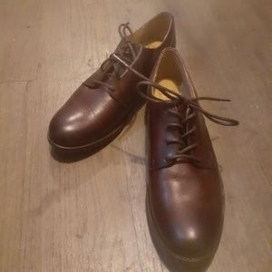 Burgundy Leather Frye Oxfords